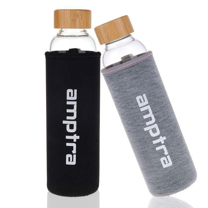 Amptra Trinkflaschen Set (2x 550ml inkl. Hülle) für 9,99€ inkl. Versand (statt 22€)