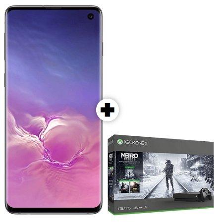 Samsung S10 + Xbox One X 1TB Metro Exodus Bundle + Vodafone 10GB LTE Allnet für 36,99€ mtl.