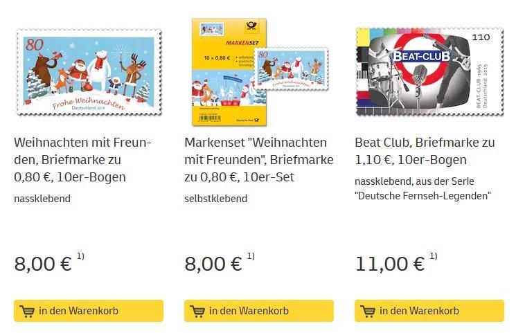 Versandkostenfrei bei der Deutschen Post bestellen