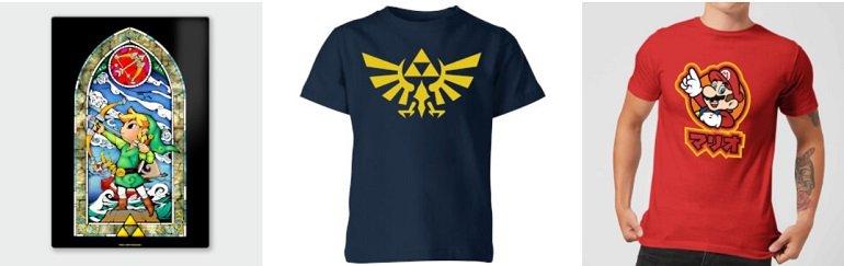Nintendo Bundle T-Shirt + Metal Print