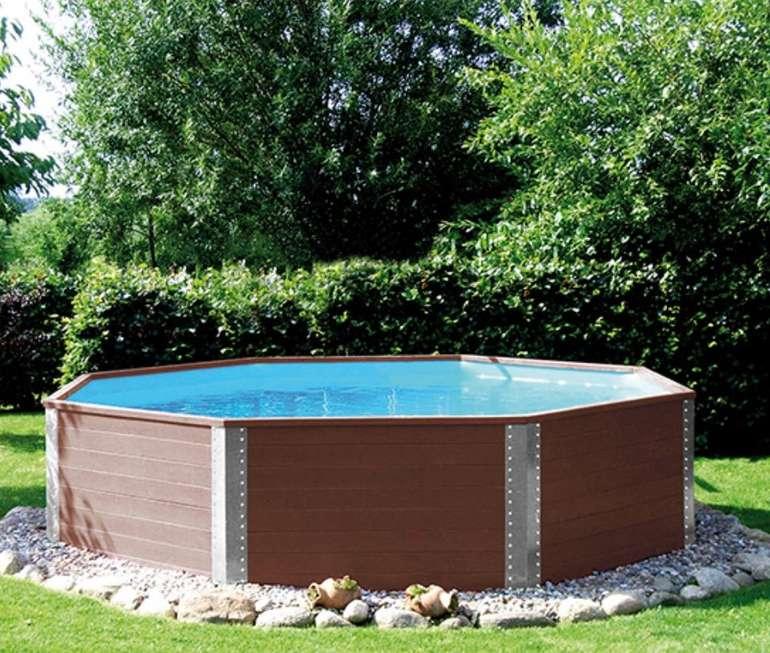 Weka-Massivholz-Gartenpool (rund, 325 x 116 cm, mit Filteranlage & Leiter, Abdeckung) für 1.559,10€ (statt 1.989€)