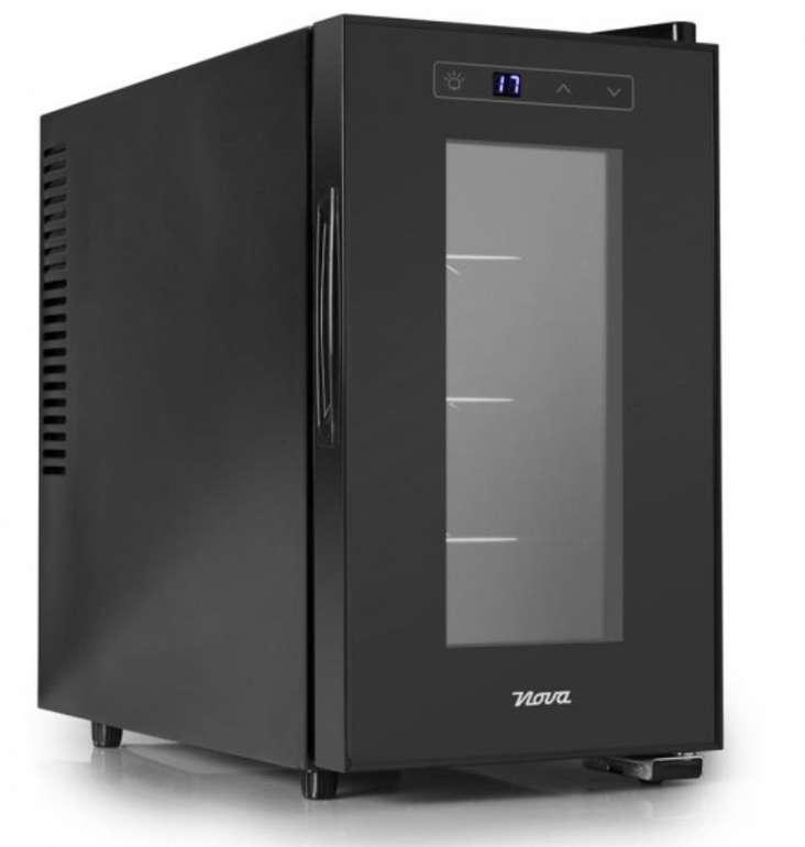 Nova 287508 Getränkekühler / Weinkühlschrank (70W, für bis zu 8 Flaschen, LCD-Anzeige) nur 99,99€ (statt 134€)
