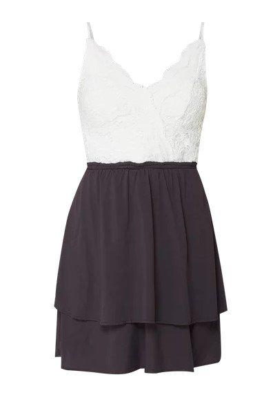 Review Two-Tone-Kleid mit Oberteil aus Häkelspitze (Gr. S bis M) für 20,99€ inkl. Versand (statt 40€)