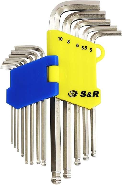 S&R Innensechskantschlüssel Satz HX mit Kugelkopf - 13-tlg für 9,99€ inkl. Prime Versand (statt 13€)