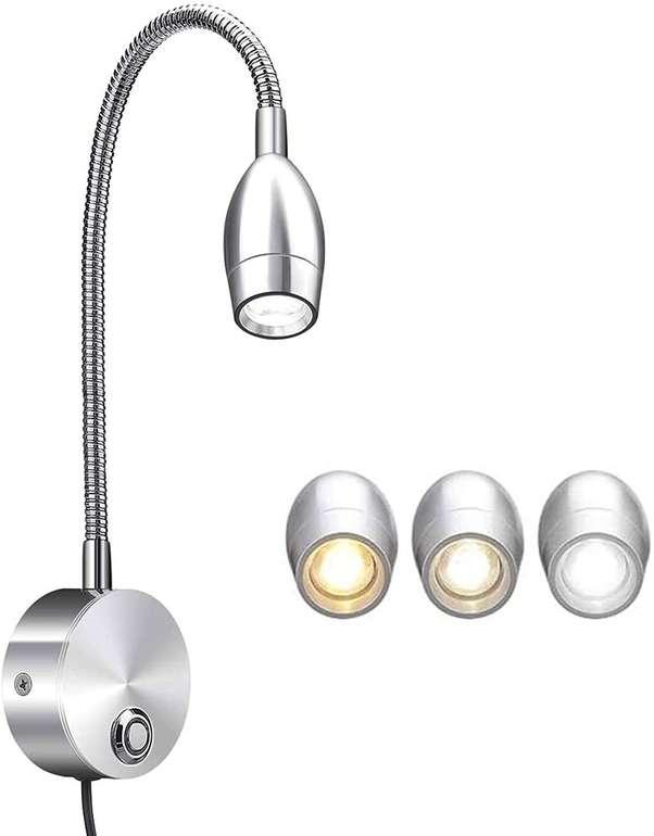 Elfeland LED Leselampe mit Schwanenhals (3W, 3 Farbtemperaturen) für 11,99€ inkl. Prime Versand (statt 20€)