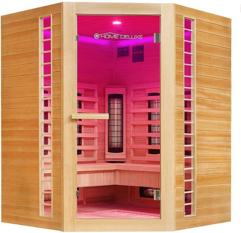 Home Deluxe Infrarotkabine Redsun XXL Deluxe  (150 x 150 x 190 cm) für 849,99€ inkl. Versand (statt 1.030€)