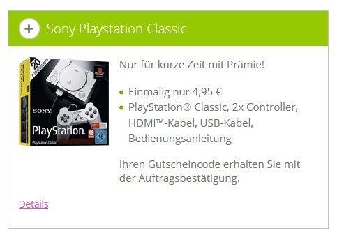 Playstation Classic Klarmobil-Aktion