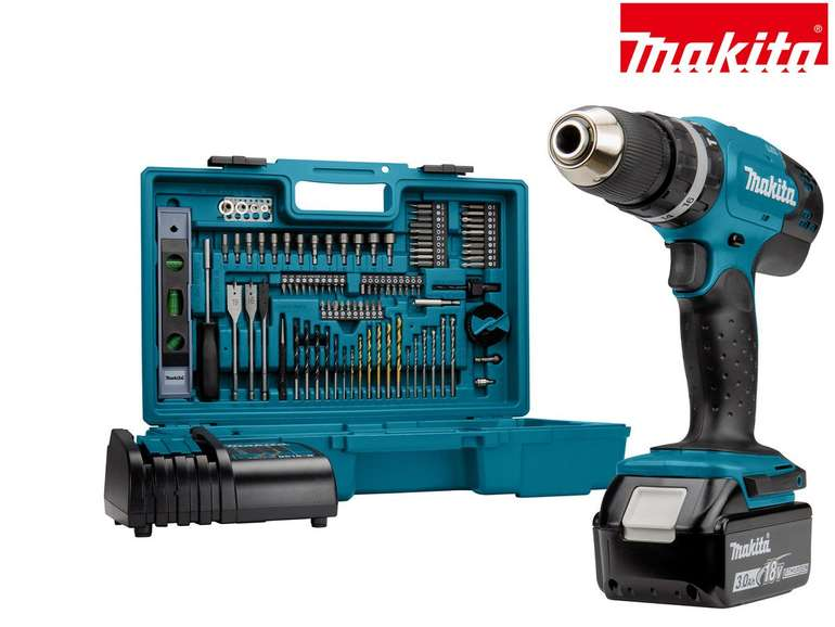 Makita DHP453FX12 Akkuschrauber & Schlagbohrmaschine (18 V) für 158,90€ inkl. Versand (statt 188€)
