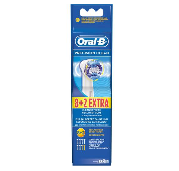 10x Braun Oral-B Precision Clean Aufsteckbürsten für 18,95€ inkl. Prime Versand