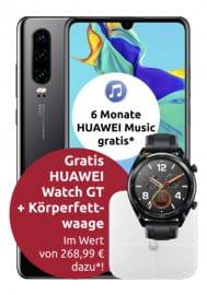Huawei P30 + Huawei Watch GT + Körperfettwaage (4,99€) mit Congstar Allnet Flat M (8GB LTE) für 20€ mtl.