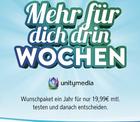 Unitymedia 2play FLY 400 + Cashback oder diverse Prämien schon für 19,99€ mtl.