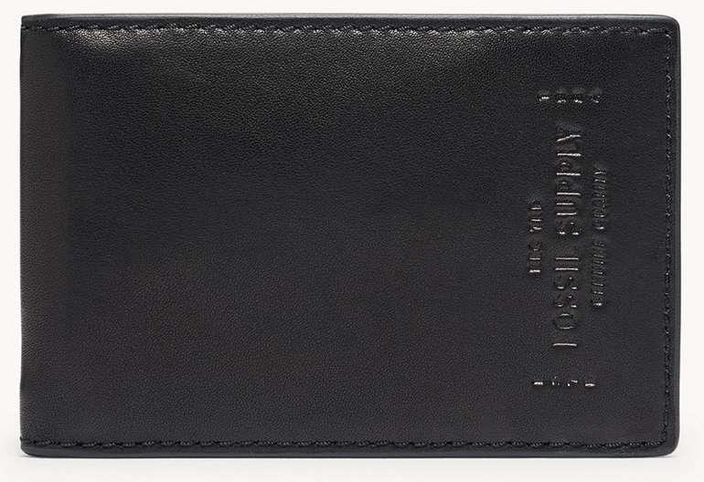 Fossil Bifold Geldbörse mit Geldklammer Gregg in Schwarz für 18€ inkl. Versand (statt 45€)