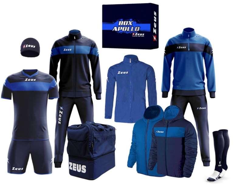 12-tlg. Zeus Apollo Fußball Set Teamwear Box (versch. Farben) für 79,99€ inkl. Versand