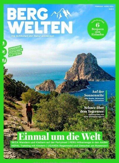 8 Ausgaben Bergwelten für 44€ + 35€ Amazon-Gutschein oder 35€ Scheck!