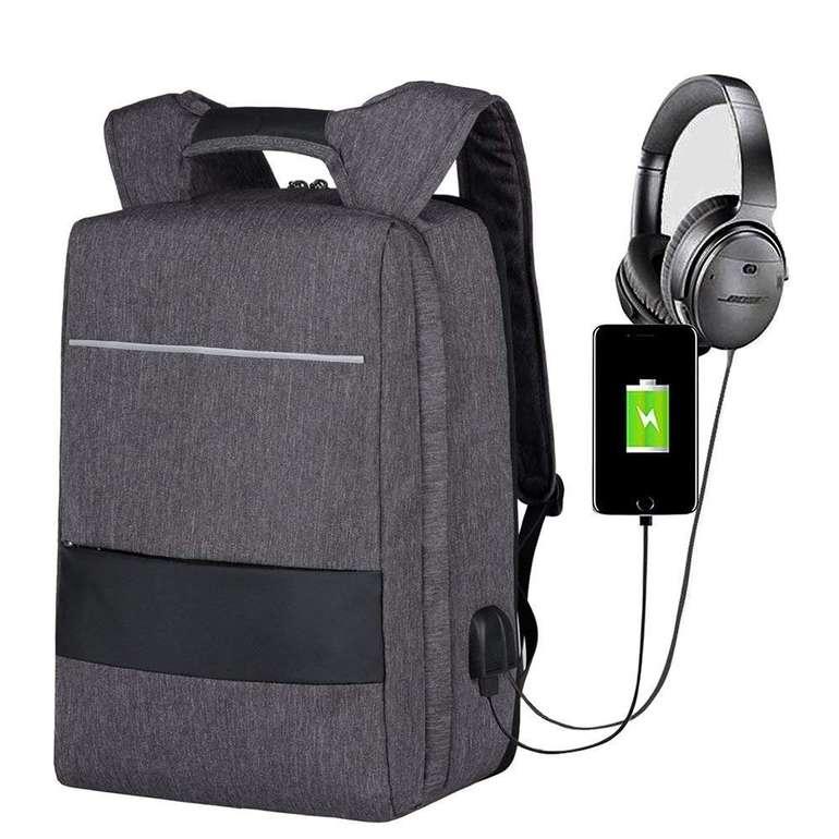"""Mbuynow wasserdichter Laptop Rucksack mit USB-Anschluss (für 17"""" Notebooks) für 8,79€ inkl. Prime Versand"""