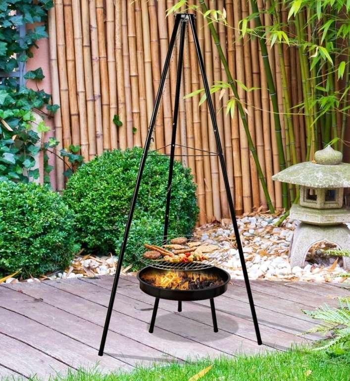 Outsunny Holzkohlegrill Schwenkgrill mit Feuerschale (höhenverstellbar) für 17,91€ inkl. Versand (statt 29€)
