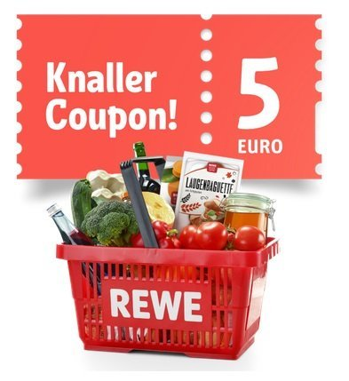 Paypal: 5€ Gutschein (50€ MBW) für den REWE Onlineshop (abspeichern)