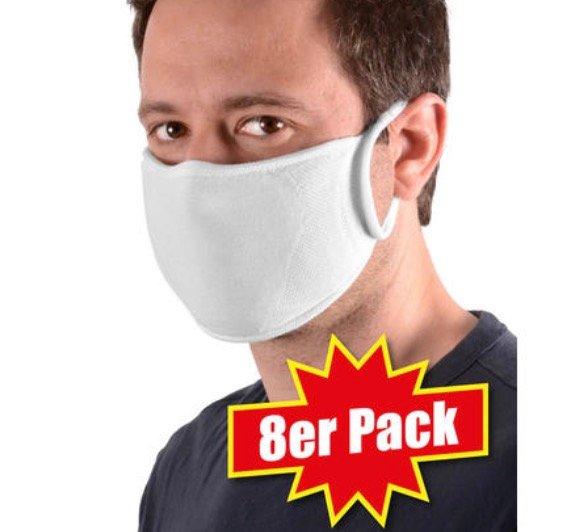 Schutzmasken Sale mit 20% Extra Rabatt im Vorteilshop - z.B. 8er Pack waschbare Sensomed Masken für 18,74€