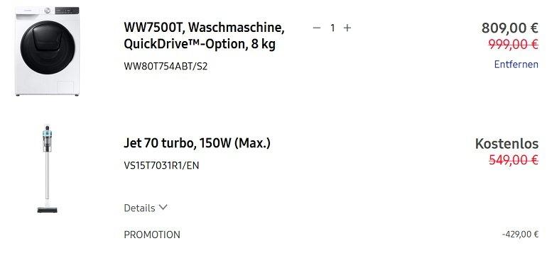 Samsung WW7500T Waschmaschine 3