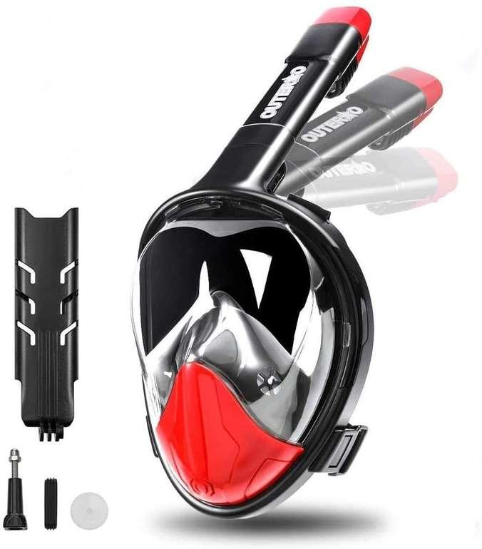 Outerdo Tauchmaske bzw. Vollgesichtsmaske mit Action Cam Halterung für 13,99€ inkl. Prime Versand