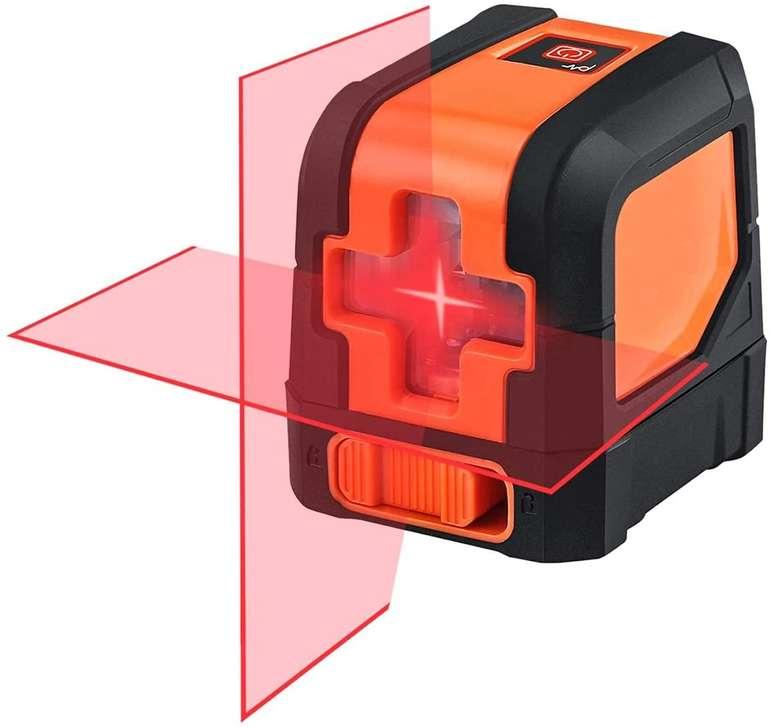 Niyeye Kreuzlinienlaser inkl. Halterung & Schutztasche (± 2 mm, 15 m, IP54) für 19,99€ inkl. Versand (statt 30€)