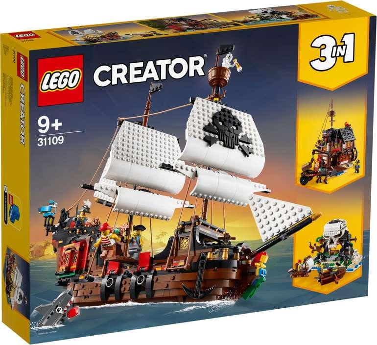 Lego Creator 31109 - 3-in-1 Piratenschiff für 68,19€ inkl. Versand (statt 78€)