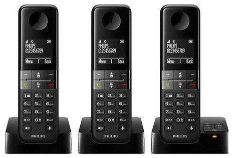 Philips D4553B/39 Schnurloses Telefon mit 3 Mobilteilen für 50€ inkl. Versand