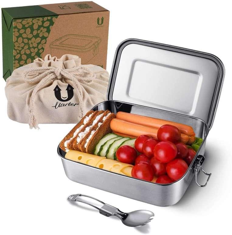 Uarter Edelstahl Bento Box (1200 ml, BPA-frei) für 11,01€ inkl. Prime Versand (statt 26€)