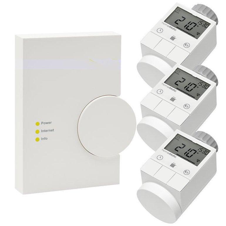 Homematic Starter Set mit 3 Thermostaten + Zentrale für 179,95€ inkl. Versand