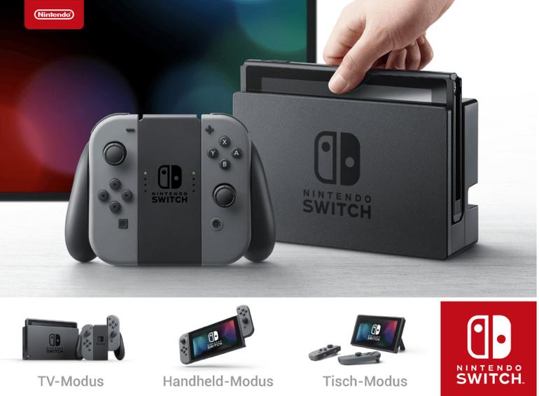 Nintendo Switch Spielkonsole in Grau für 265,54€ inkl. Versand (statt 294€)