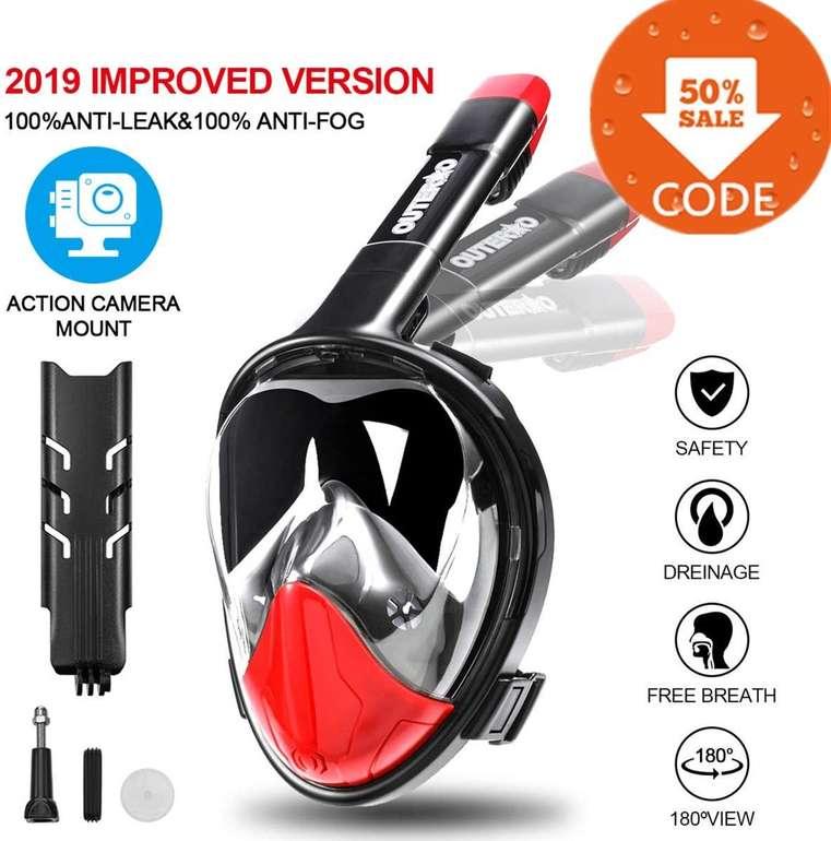 Outerdo Tauchmaske bzw. Vollgesichtsmaske mit Action Cam Halterung für 13,49€ (Prime)