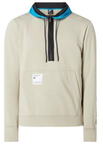 Nike Hoodie mit kurzem Reißverschluss in Grau für 42,49€ inkl. Versand (statt 48€)