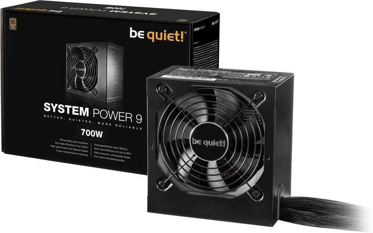 be quiet! PC Netzteil ATX System Power 9 mit 700W für 56,89€ inkl. Versand (statt 65€)