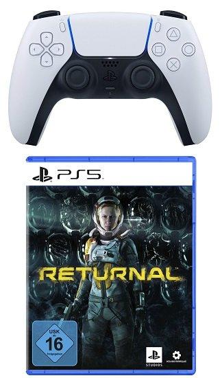 Sony DualSense Wireless-Controller + Spiel Returnal (Playstation 5) für 104,99€ (statt 133€) - NL-Gutschein!