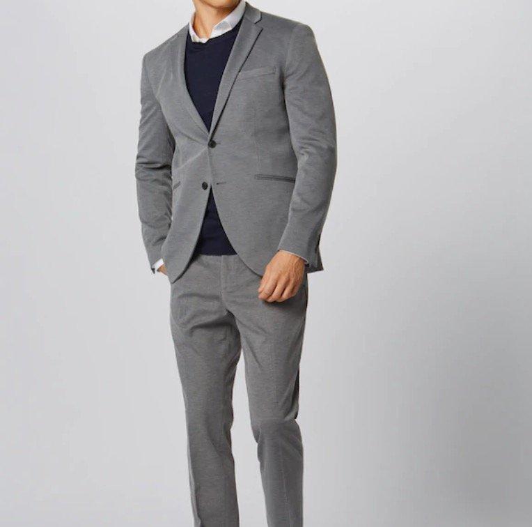 Jack & Jones Herren Anzug 'Jprsteven Suit' in hellgrau für 92,65€ (statt 109€)