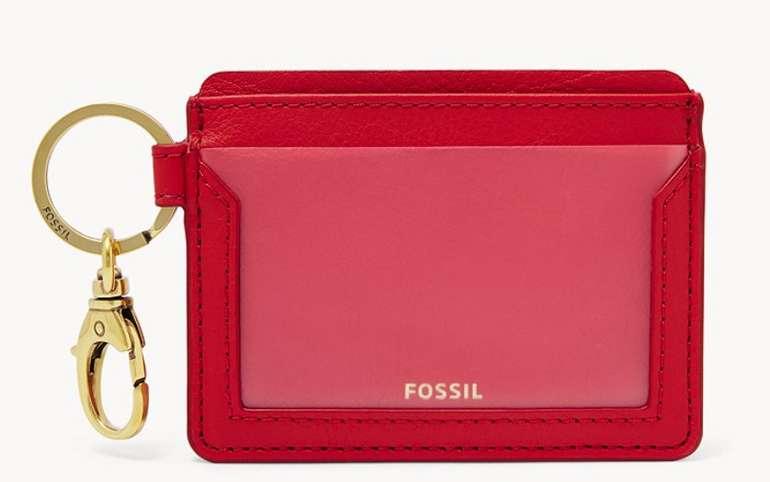Fossil Damen Kartenmäppchen Lee Card Case in rot für 8,40€ inkl. Versand (statt 29€)