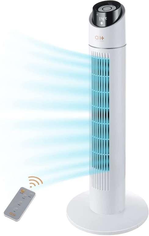 Aukey Home Turmventilator (3 Modi, Fernbedienung) für 47,99€ inkl. Versand (statt 80€)