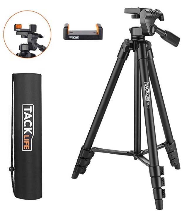 Kamera Stativ Tacklife MLT01, 136cm hoch für 13,99€ mit Prime (statt 20€)
