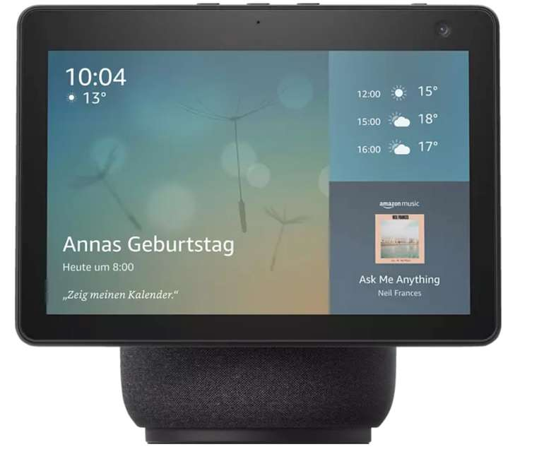 Amazon Echo Show 10 Smart Speaker für 224,99€inkl. Versand (statt 250€) - Saturn Card!