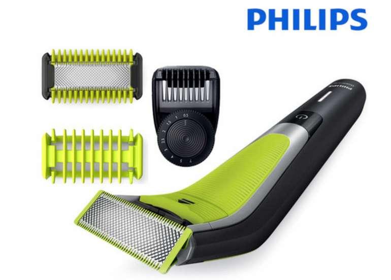 Philips OneBlade Pro Rasierer QP6505/21 + Körperrasur Set für 55,90€ inkl. Versand (statt 83€)