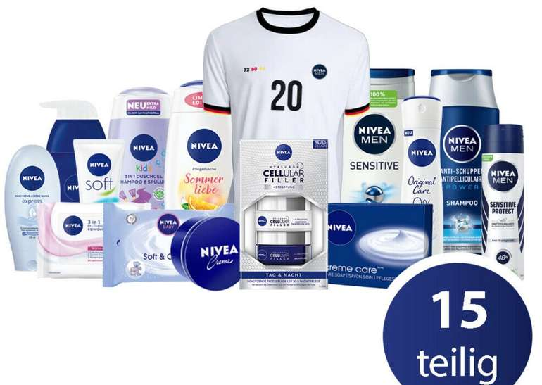 15-tlg. Nivea EM Familien Set inklusive Fan-Trikot für 29,99€ inkl. Versand