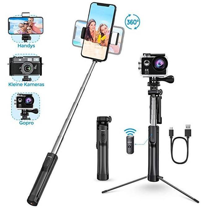Mpow Bluetooth Selfie Stick mit Blitzlicht für 10,49€ inkl. Prime Versand