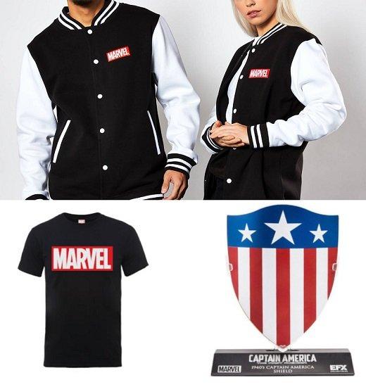 Marvel Varsity College Jacke + T-Shirt + Captain America Replica Schild für 38,48€ (statt 64€)