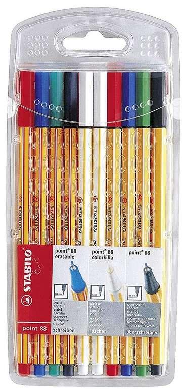 Stabilo Fineliner point 88 colorkilla/erasable 10er-Pack für 3,99€ bei Filialabholung (statt 8€)