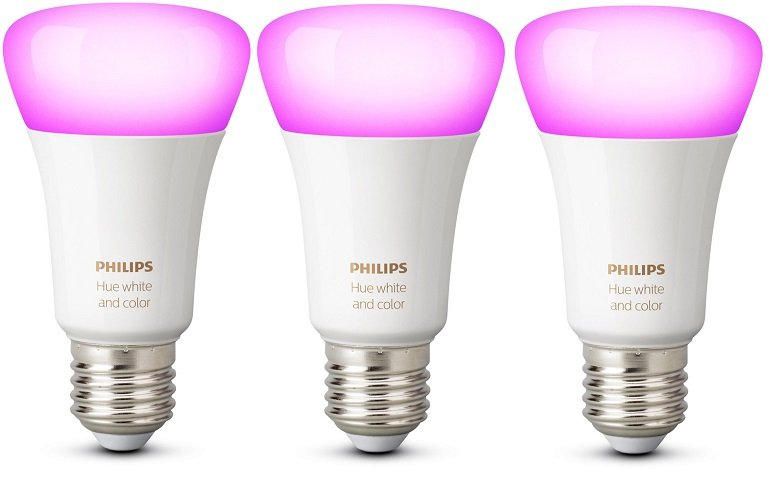 3er Pack Philips Hue White & Color Ambiance E27 Bluetooth Lampen für 90€ inkl. VSK