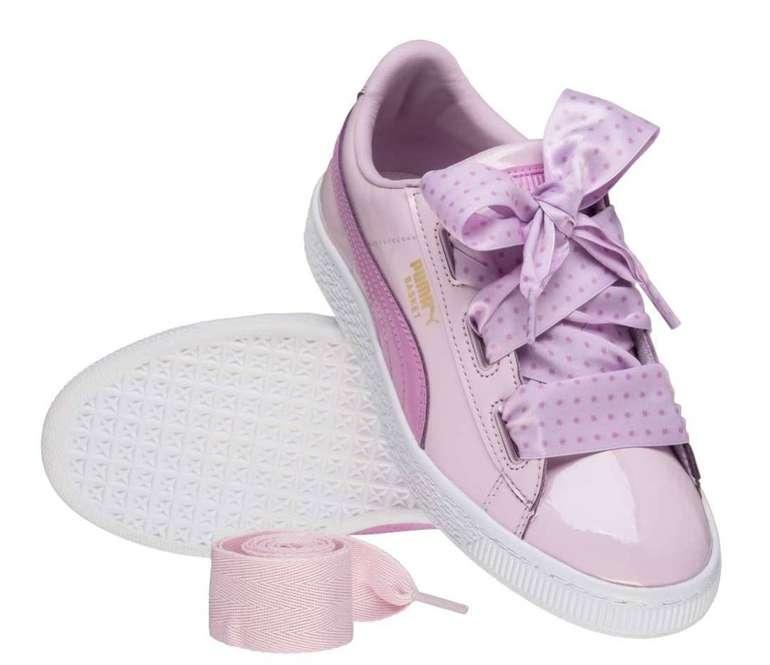 Puma Mega Sale bei SportSpar - z.B. Basket Heart Stars PS Mädchen Sneaker 18,99€