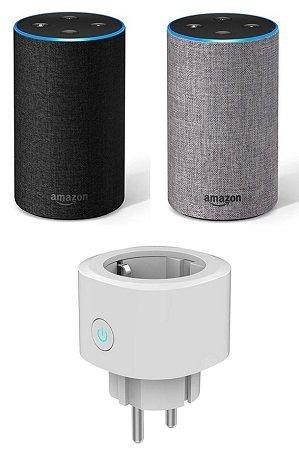 Amazon Echo (2. Generation) für 75,93€ (statt 91€) + Gratis Smarthome Steckdose