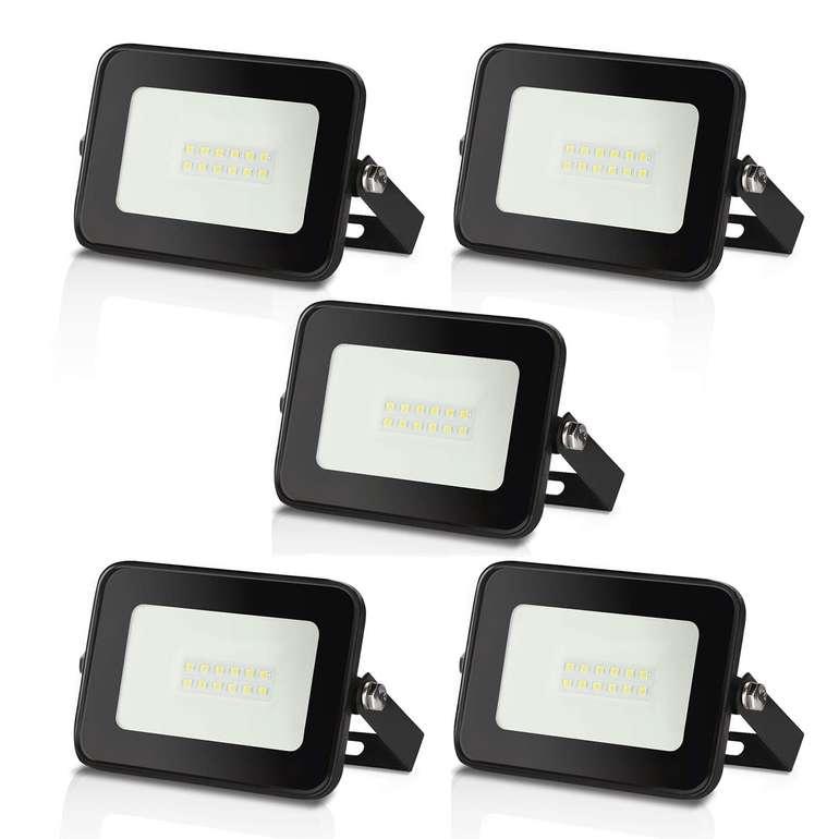 Hengda wasserdichte LED Fluter reduziert, z.B. 5 x 10 Watt kaltweiß für 17,04€