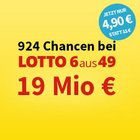 Lotto 6aus49 System-Schein: 924 Chancen zu 4,90€ (statt 11€) - 19 Mio. € Jackpot