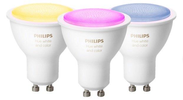 3er Pack Philips Hue Hue White & Color Ambiance GU10 Leuchtmittel mit Bluetooth für 119€